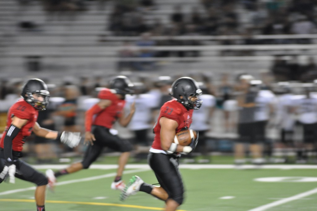 Villamar running 52 yards for a touchdown after stripping the ball.
